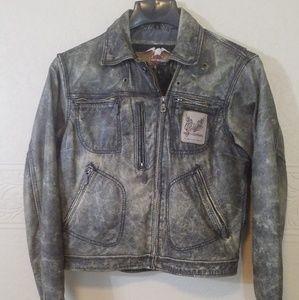 Women Harley Davidson Leather Jacket sz L